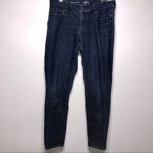 Loft Curvy Skinny Jeans Size 10